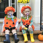 USA Toddler Baby Girl Halloween Costume Kid Top Romper Dress Clothes Outfit Set