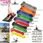 Resistance Bands Loop Crossfit Yoga Pull Up Exercise Fitness Strength 5-250lbs image