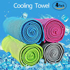 4 Pack Ice Cold Instant Cooling Towel Running Jogging Gym Chilly Pad Sports Yoga image