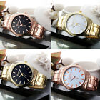 New Ladies Women Girl Watch Round Stainless Steel Quartz Wrist Watch Watches image