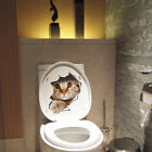 QA_ 3D CAT DOG TOILET LID COVER WALL STICKER DECAL TATTOO BATHROOM HOME DECOR