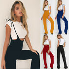 Fashion Womens High Waistsuits Pants Overalls Suspenders Trousers Playsuits