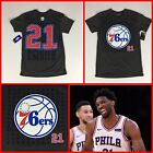 Men's JOEL EMBIID Philadelphia 76ers #21 Jersey-Style Gray Tee-Shirt - S,M,LG on eBay