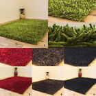 SHINY SHIMMER SHAGGY RUG SMALL MODERN 5CM THICK MULTI COLOR CLEARANCE RUG SALE