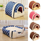 New 2IN1 Portable Pet Dog Cat Bed House Warm Soft Mat Puppy Igloo Basket Gift