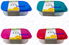 New 2 Pack PLASTIC STORAGE CONTAINERS Sandwich Lunch Food Box Kitchen Home UK ✔