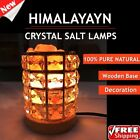 2018Himalayan Natural Crystal Salt Night Light Air Purifying Salt Lamp Design TG