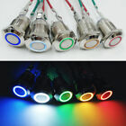 Momentary Waterproof 12mm Round Dash LED Light Power Push Button Switch 12V
