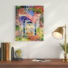 Charlton Home 'Patriotic Home' Watercolor Painting Print Set