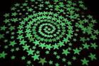 3D Stars Glow In The Dark Luminous Fluorescent Plastic Wall Stickers 100 Pieces