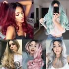 26' Synthetic Hair Full Wigs Natural Long Wavy Wig Heat Resistant Multi Color