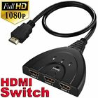 3 in 1 out HDMI Multi Display Auto Switch Box Splitter 1080P HD TV Adapter Cable