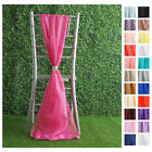 Extra Wide Premium Chiffon CHAIR SASHES Bows Ties Wedding Reception Decorations