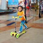 Kick scooter for Kid - Deluxe 3 Wheel Glider Adjustable height LED Light Up safe