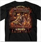Harley Davidson Vintage 2018 Sturgis Motorcycle Rally Outlaw Black Shirt 1234XL