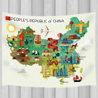Map of China and Travel Bedroom Living Room Dorm Wall Hanging Tapestry Blanket