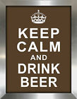 "Picture Perfect International ""Keep Calm and Drink Beer"" Framed Textual Art"