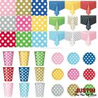 SPOTS Disposable Polka Dots Colour TABLEWARE Events BBQ Cate