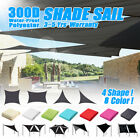 Waterproof Sun Shade Sail Rectangle/Triangle Patio Canopy Cover UV Block Pool