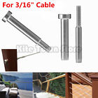 "Внешний вид - Stainless Steel Invisible Receiver Stud Swage End Fitting 3/16"" Cable Railing US"