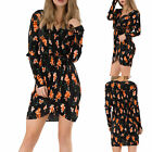WOMEN FLORAL PLEATED MINI DRESS Wrap Long Sleeve Summer Casual Business UK 6-14