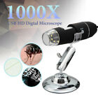8LED 1000X 2MP USB Digital Microscope Endoscope Magnifier Camera With Stand NEW