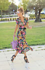 ZARA BUTTONED MIDI FLORAL SHIRT DRESS SIZES S 8  UK BLOGGERS FAVE LAST ONE