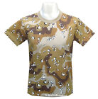 Mens Army Military Combat T-shirt Iraq Desert Storm British Sand Camo -Clearance
