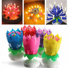Candle Rotating Birthday Musical Lotus Flower Cake Candles Happy Light Small