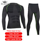 Mens Quick Dry Thermal Fitness Compression Tracksuits Underwear Sets/Tops/Bottom for sale  Shipping to Canada