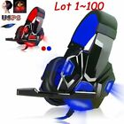 Lot Gaming Headphone USB 3.5mm Headset Earphone Microphone F PC Computer Gamer S