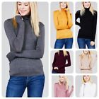 Внешний вид -  Women Long Sleeve  T-Shirt Slim Fit Turtle neck Pullover High Tops Casual- USA