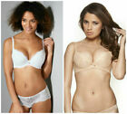 GOSSARD SUPERBOOST LACE PLUNGE BRA BY BRAVISSIMO 7711 IN WHITE  OR NUDE (AA-29)