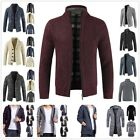 Men's Casual Thicken Zipper Knitwear Coat Sweater Jacket Winter Warm Outwear New