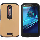 Shockproof Impact Hard Soft Case Cover For Motorola Droid Turbo 2