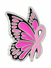PinMart's Breast Cancer Awareness Butterfly Pink Ribbon Enamel Lapel Pin image