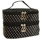 Travel Cosmetic Makeup Bag Toiletry Case Zipper Storage Organizer Pouch Handbag