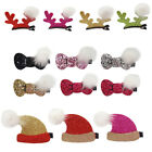 Girls Cute Headwear Bowknot Hat Anlter Clips Christmas Grooming Accessories Hats