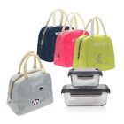 Portable Bento Box Lunch Bag Insulated Thermal Cooler Carry Tote Picnic Storage