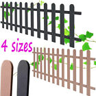 WPC Picket Fence Garden Security Palisade Patio Panel Barrier 200cm Brown & Grey