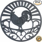"Внешний вид - Silicone Trivets Rooster Design - 7.5"" Round"