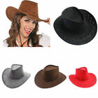 Men's Women's Wild West Fancy Cowgirl Cowboy Old West Hat Western Headwear Ca_