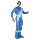 Thunderbirds Scott Costume Blue with Jumpsuit Hat Boot Covers