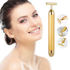 24K Gold Beauty Bar Facial Roller Face Vibration Skincare Massage Face Lift Firm image