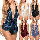 Womens Low Cut Sexy V Neck Lacesuit Lingerie Lady Everyday Short Nightdress