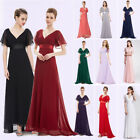 Ever-Pretty US Plus V-neck Bridesmaid Dresses Long Chiffon Evening Gowns 09890