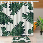 Banana leaf Plants Shower Curtains Bathroom Waterproof Polyester Fabric 12hooks