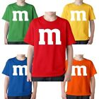 M & M Halloween Costume M and M Group Costumes Boys Girls YOUTH Tee T Shirt