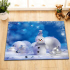 Funny Snowman Xmas Balls Snow Shower Curtain Liner Bathroom Waterproof Fabric