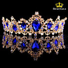 Deartiara Crystal Gem Gold Princess Tiara Wedding Bridal Crown Headbands